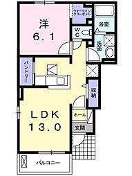 フルール蘭[B102号室]の間取り