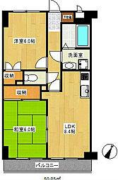 YMDIIIマンション[3階]の間取り