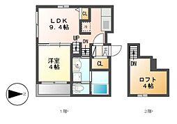 Prime Maison K[1階]の間取り