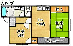 メゾン・ド・シモーネ[2階]の間取り