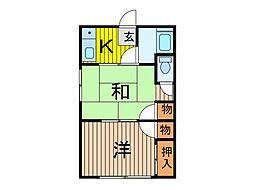 幸谷荘[1階]の間取り