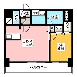 FIRST RESIDENCE SAKAE[12階]の間取り