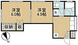 神奈川県横浜市戸塚区前田町の賃貸アパートの間取り