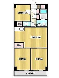 第三千代田マンション[5階]の間取り