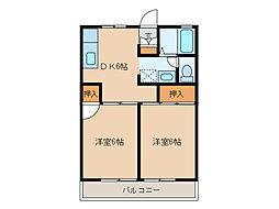 ドミール高坂[205号室]の間取り