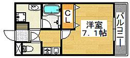 大阪府堺市北区船堂町2丁の賃貸マンションの間取り