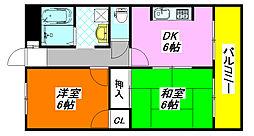 ハイマート・新喜多 105号室[1階]の間取り