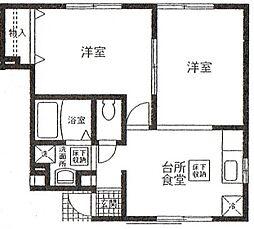 ラッフィナート渡辺(第2)[1階]の間取り