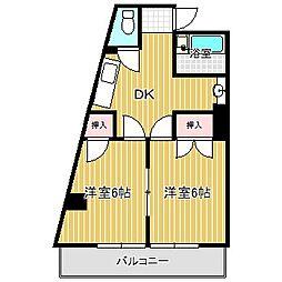 愛知県名古屋市中川区四女子町4丁目の賃貸マンションの間取り