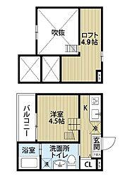 Tom's tenement 3[2階]の間取り