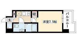 愛知県名古屋市昭和区鶴舞2の賃貸マンションの間取り