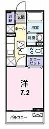 大阪府枚方市枚方元町の賃貸マンションの間取り