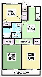 ミノルマンション[403号室]の間取り
