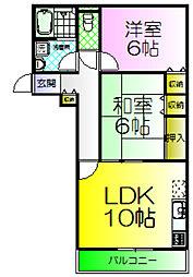 コートロッジパート2[2階]の間取り