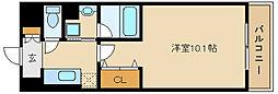 兵庫県尼崎市口田中1丁目の賃貸マンションの間取り