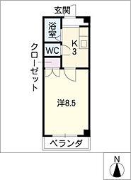 ラ・フォーレ K−2[3階]の間取り