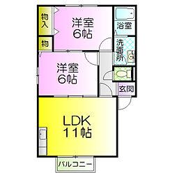 クレールアビタシオンkonishi[1階]の間取り