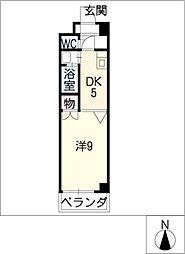 ラヴィアン名駅[5階]の間取り