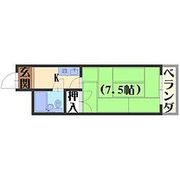 長岡ロイヤルパレス[A405号室]の間取り