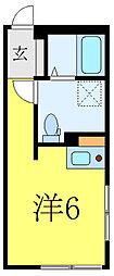 MODECO OYAMA 3階ワンルームの間取り