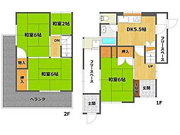 [一戸建] 兵庫県伊丹市桜ケ丘1丁目 の賃貸【/】の間取り