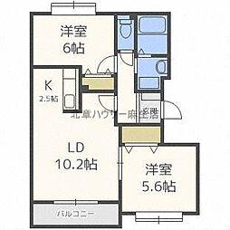 フロンティア77III[2階]の間取り