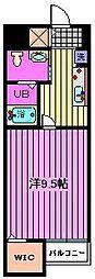 クレメント中浦和[2階]の間取り