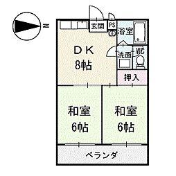 フジエビル 3階[301号室]の間取り