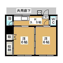 安久アパート[1階]の間取り