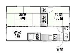 [一戸建] 徳島県徳島市上助任町蛭子 の賃貸【/】の間取り