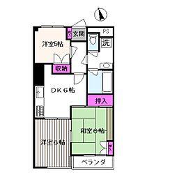 センターパレス国立[305号室]の間取り