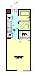埼玉県久喜市栗原3丁目の賃貸アパートの間取り