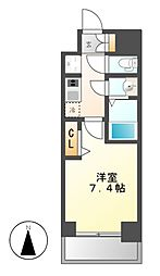 愛知県名古屋市東区代官町の賃貸マンションの間取り