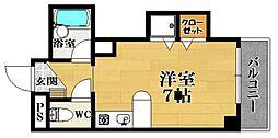 ラシャンブル松原[3階]の間取り