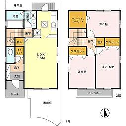 [テラスハウス] 兵庫県神戸市西区白水2丁目 の賃貸【兵庫県 / 神戸市西区】の間取り