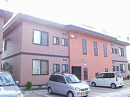 秋田県大仙市四ツ屋字下古道の賃貸アパートの外観