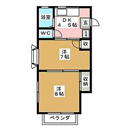 カーサM[2階]の間取り