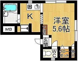 奈良県奈良市上三条町の賃貸マンションの間取り