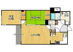 ロイヤルマンション[2階]の間取り