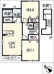 クレール エスト[2階]の間取り
