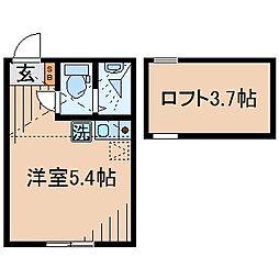 Huvafen Fushi 鶴見[203号室]の間取り