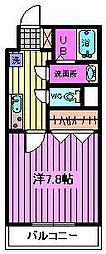 埼玉県さいたま市大宮区三橋2丁目の賃貸マンションの間取り