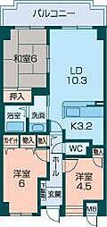 ローレルコート橿原[1階]の間取り