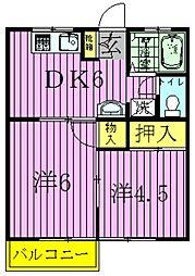 第二ドリームコーポ[2階]の間取り