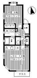 東京都渋谷区広尾3丁目の賃貸アパートの間取り