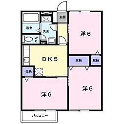グリ-ンコ-ト1番館[1階]の間取り