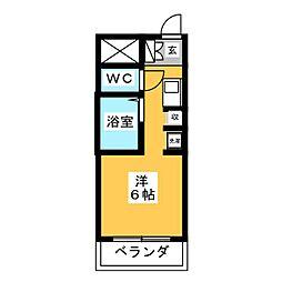 サンハイツ喜多村[3階]の間取り
