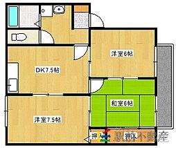 セゾン868[2階]の間取り