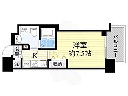 セレニテ谷九プリエ 6階1Kの間取り