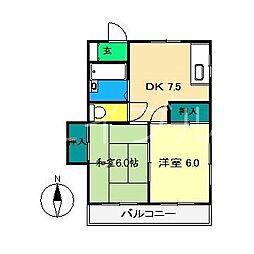 エスポアールKNA[2階]の間取り